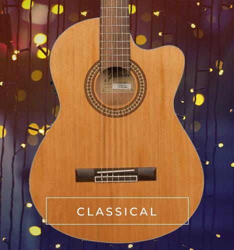 body of classical Jasmine acoustic guitar